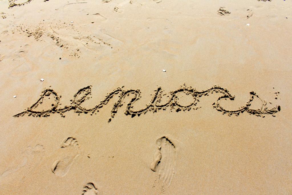 Seniors in the sand