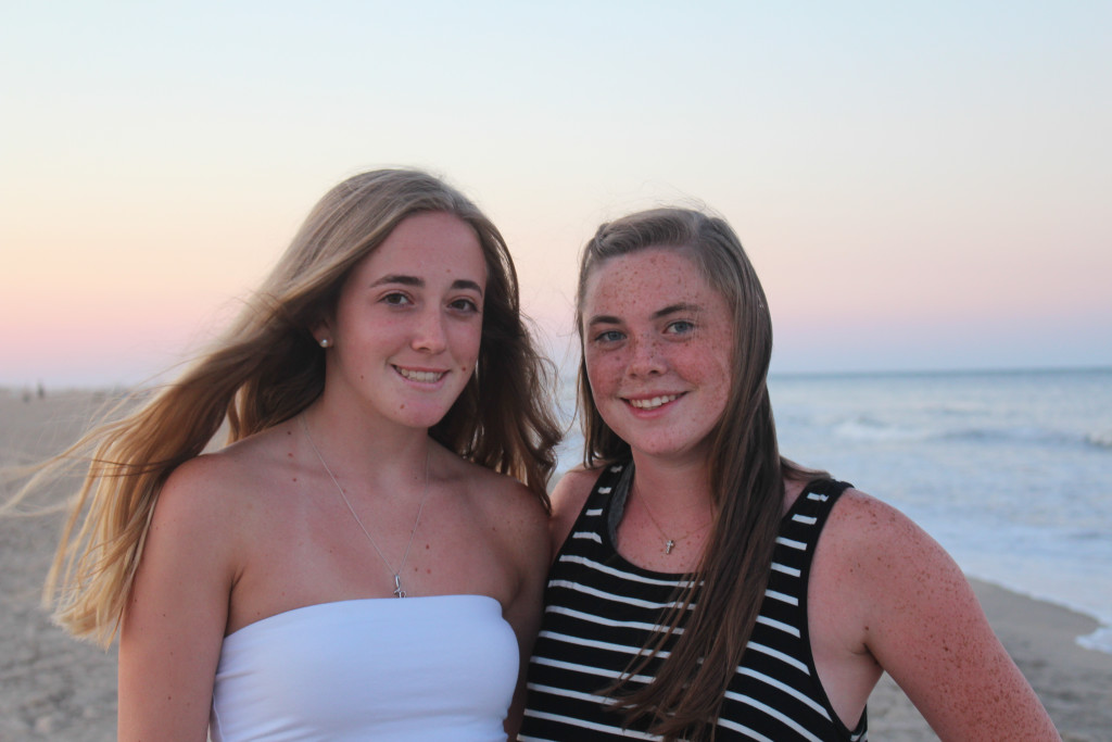 Emma and Hannah at 78th Street Beach