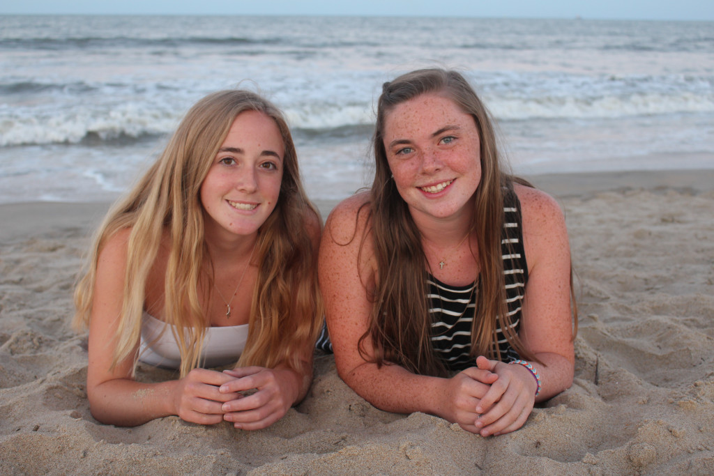 Emma and Hannah at 78th Street Beach on the Sand 2